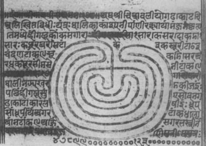 Абхьюмани-янтра, тантрический рисунок, Раджастхан
