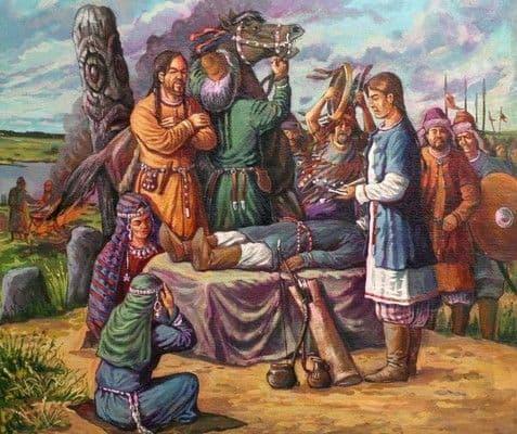 Реконструкция почитания и обряда освящения языческих идолов у славян